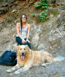 Cara and Chaco the Mountain Dog